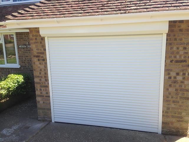 SWS Compact Roller in White & Gallery - GM Garage Doors